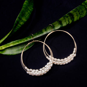 Fresh Water Pearl Multi Hoop Earrings
