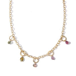 Tourmaline Charm Necklace