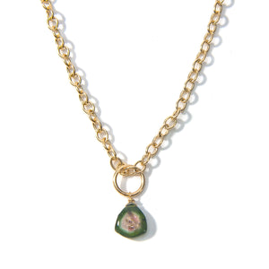 Single Tourmaline Charm Necklace
