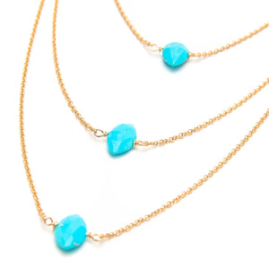 Sleeping Beauty Turquoise Layered Necklace
