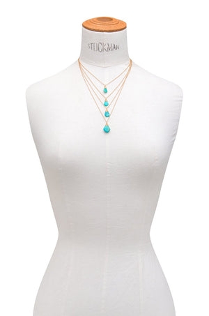 Wrapped Vintage Turquoise Layered Necklace