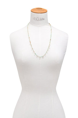 Peruvian Opal Rondelle and Saloni Moonstone Necklace