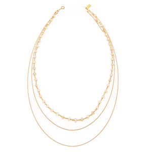 Saloni Moonstone Rondelle and Chain Necklace