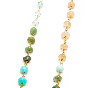 Opals and Aquamarine Necklace