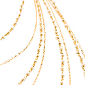 Layered Freshwater Pearl Rondelle Necklace