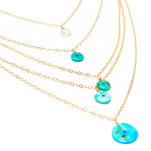Saloni Moonstone and Vintage Turquoise Layered Necklace