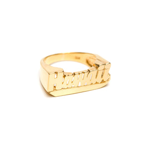 14k Solid Gold Hawaii Ring