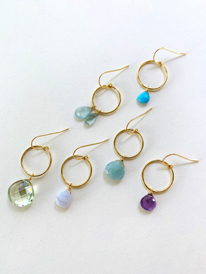 Tiny Gem Hoops