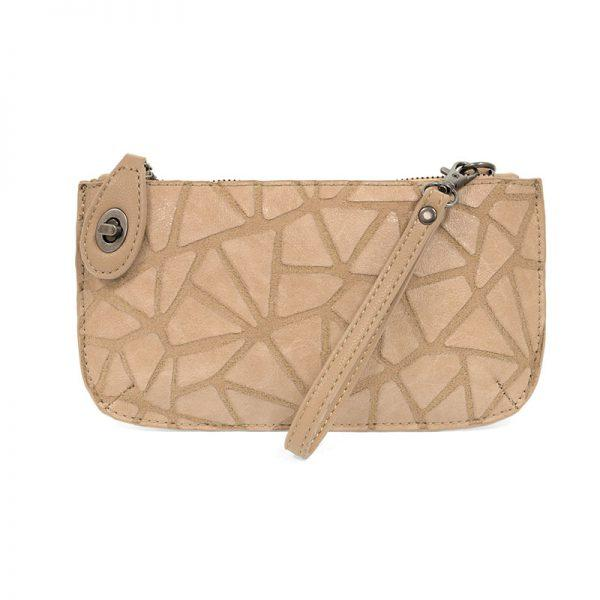Camel Geo Crossbody Wristlet Clutch Apparel & accessories Joy Susan