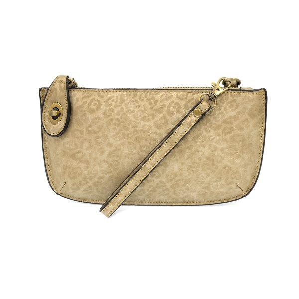 Natural Tonal Leopard Crossbody Wristlet Clutch Apparel & accessories Joy Susan