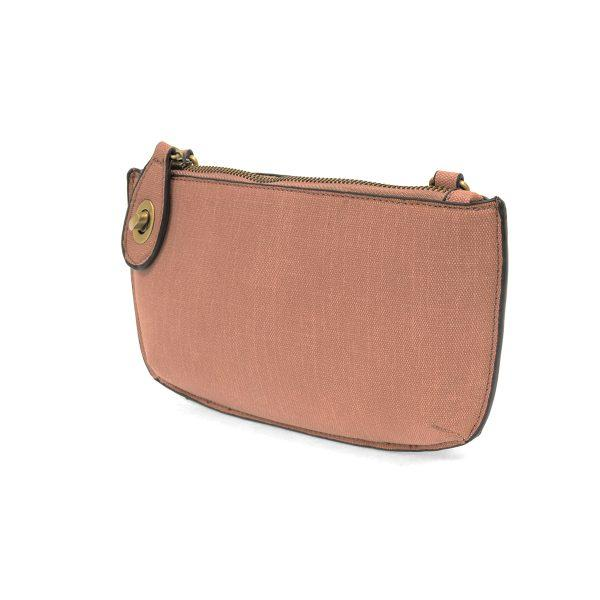 Pink Faux Linen Crossbody Wristlet Clutch Apparel & accessories Joy Susan