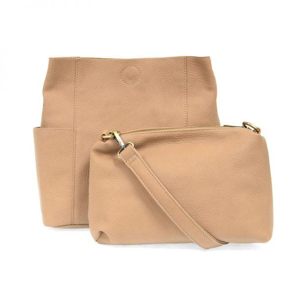 Camel Kayleigh Side Pocket Bucket Bag Apparel & accessories Joy Susan