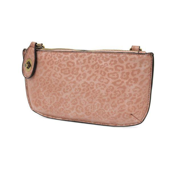 Pink Tonal Leopard Crossbody Wristlet Clutch Apparel & accessories Joy Susan