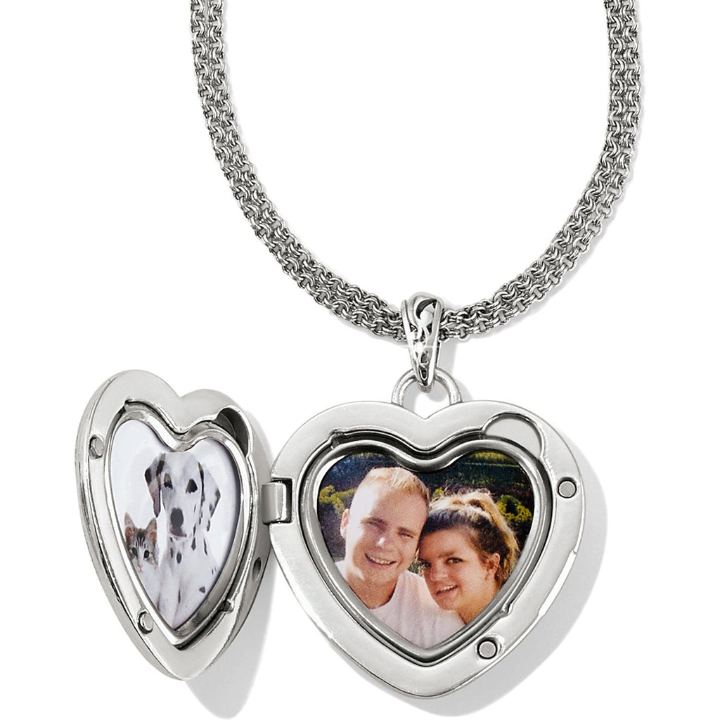 Timeless Heart Convertible Locket Necklace Lockets Brighton