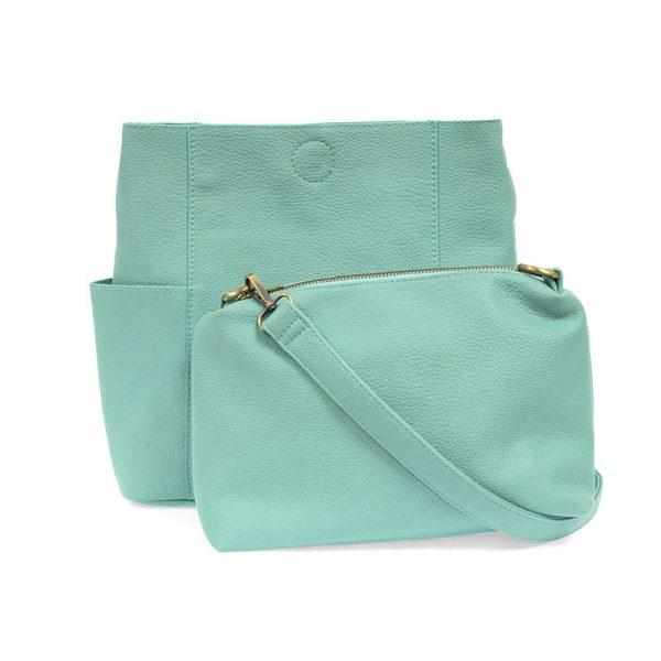 Turquoise Kayleigh Side Pocket Bucket Bag Apparel & accessories Joy Susan