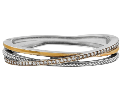 Neptune's Rings Narrow Hinged Bangle JF2081 - Johnathan Michael's Boutique