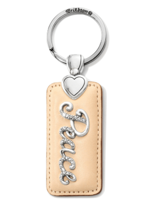Peace Script Key Fob E1769P - Johnathan Michael's Boutique