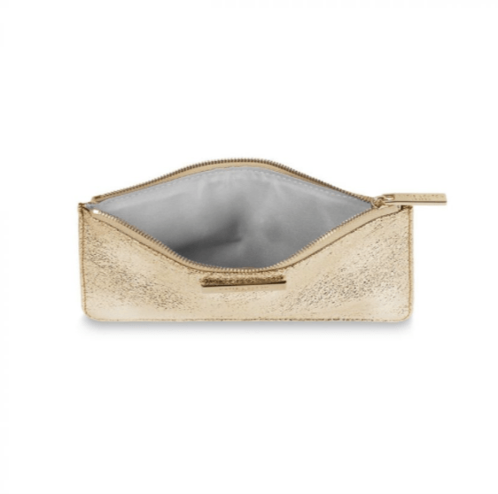 Marcie Slim Pouch / Metallic Gold - Johnathan Michael's Boutique