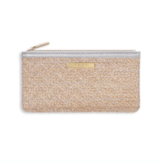 Callie Metallic Slim Pouch / Silver - Johnathan Michael's Boutique