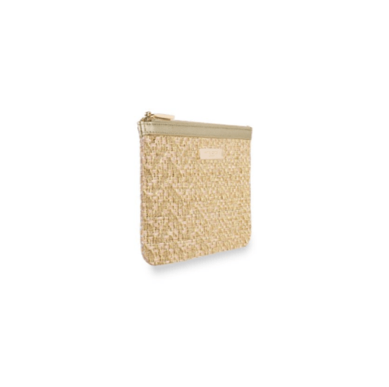 Callie Metallic Slim Pouch / Gold - Johnathan Michael's Boutique