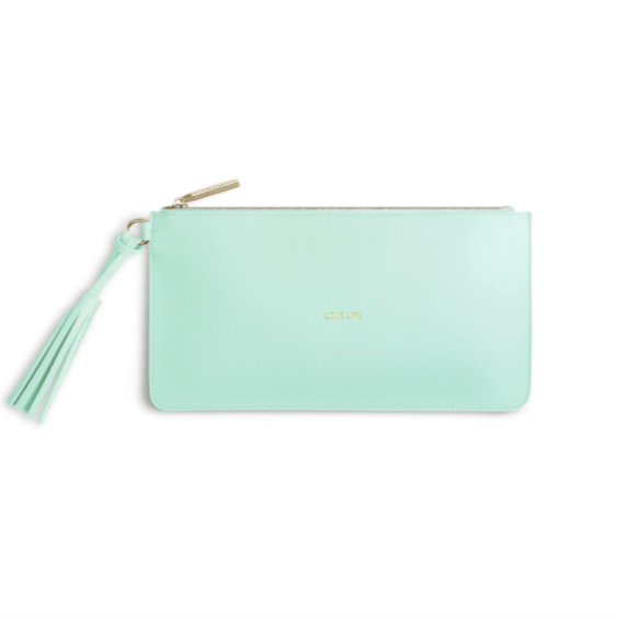 Florrie Tassel Pouch / Love Life / Mint - Johnathan Michael's Boutique