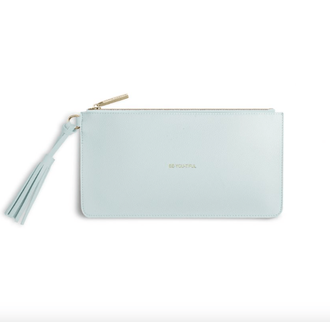 Florrie Tassel Pouch / BE-YOU-TIFUL / Powder Blue - Johnathan Michael's Boutique