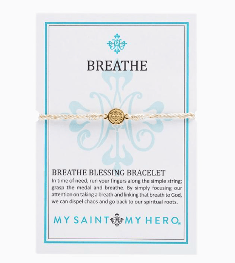 Breathe Blessing White/Gold Bracelet - Johnathan Michael's Boutique