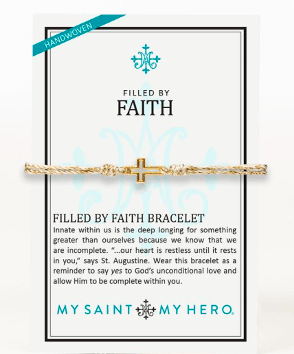 Filled by Faith Gold Bracelet - Johnathan Michael's Boutique