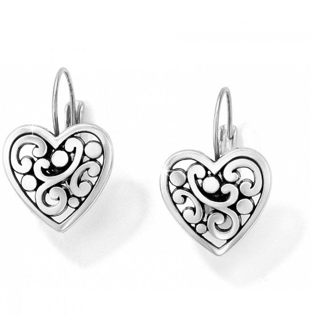 Contempo Heart Leverback Earrings J19870