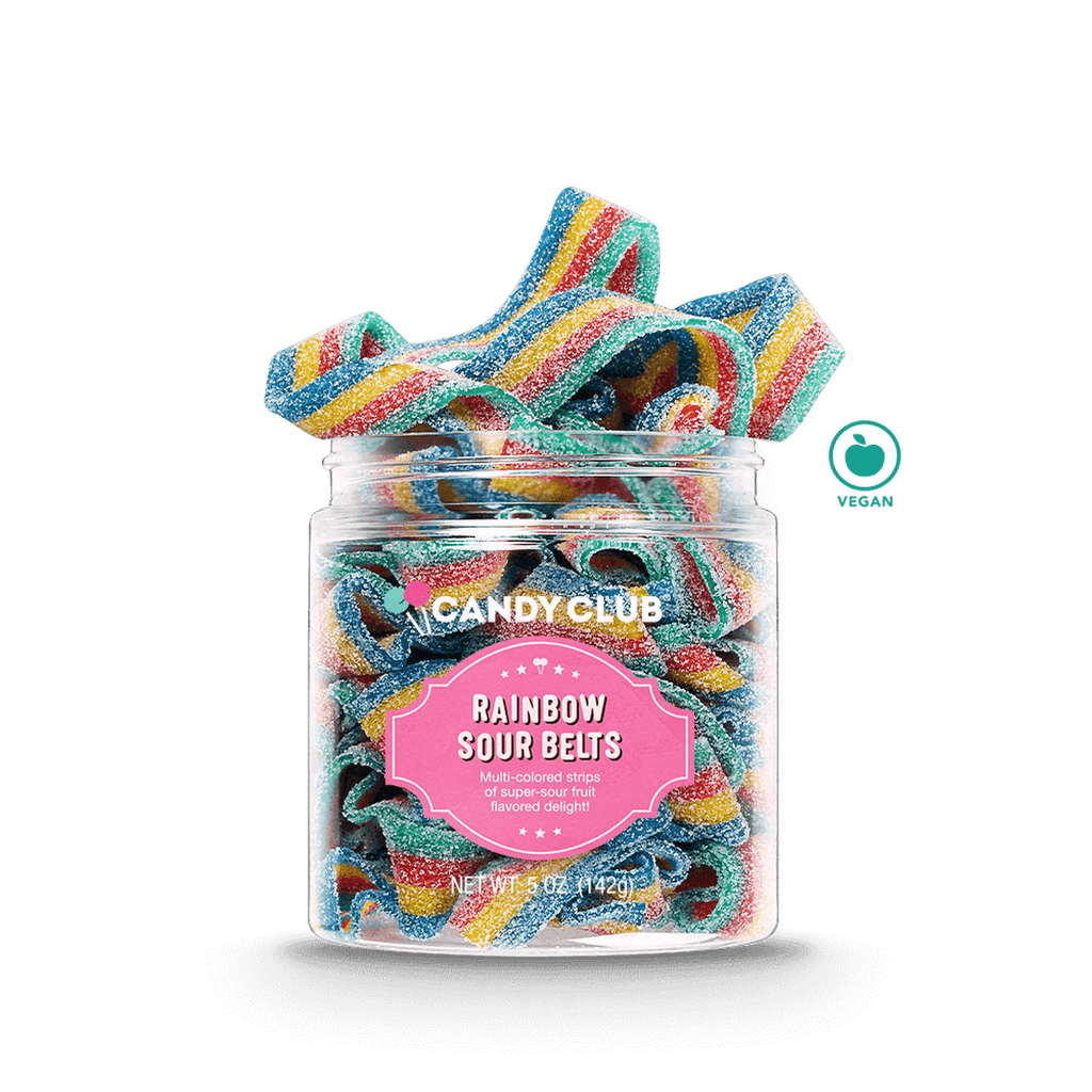 Rainbow Sour Belts candy club candy club