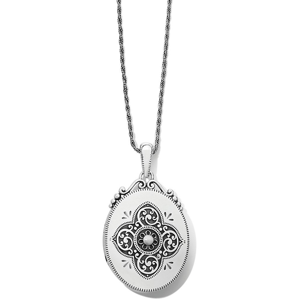 Etoile Oval Convertible Locket Necklace JM2880 Necklaces brighton