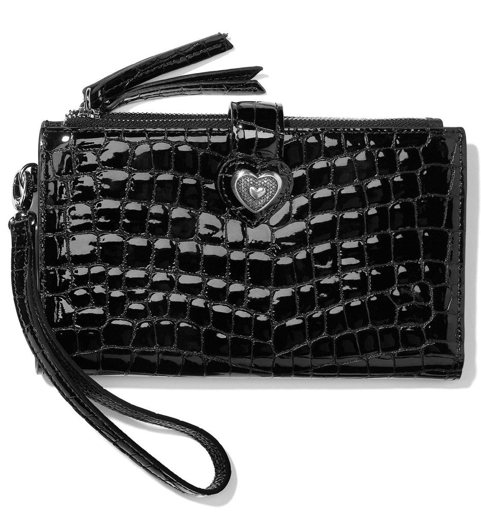 Bellissimo Heart Double Zip Wallet T35163 - Johnathan Michael's Boutique