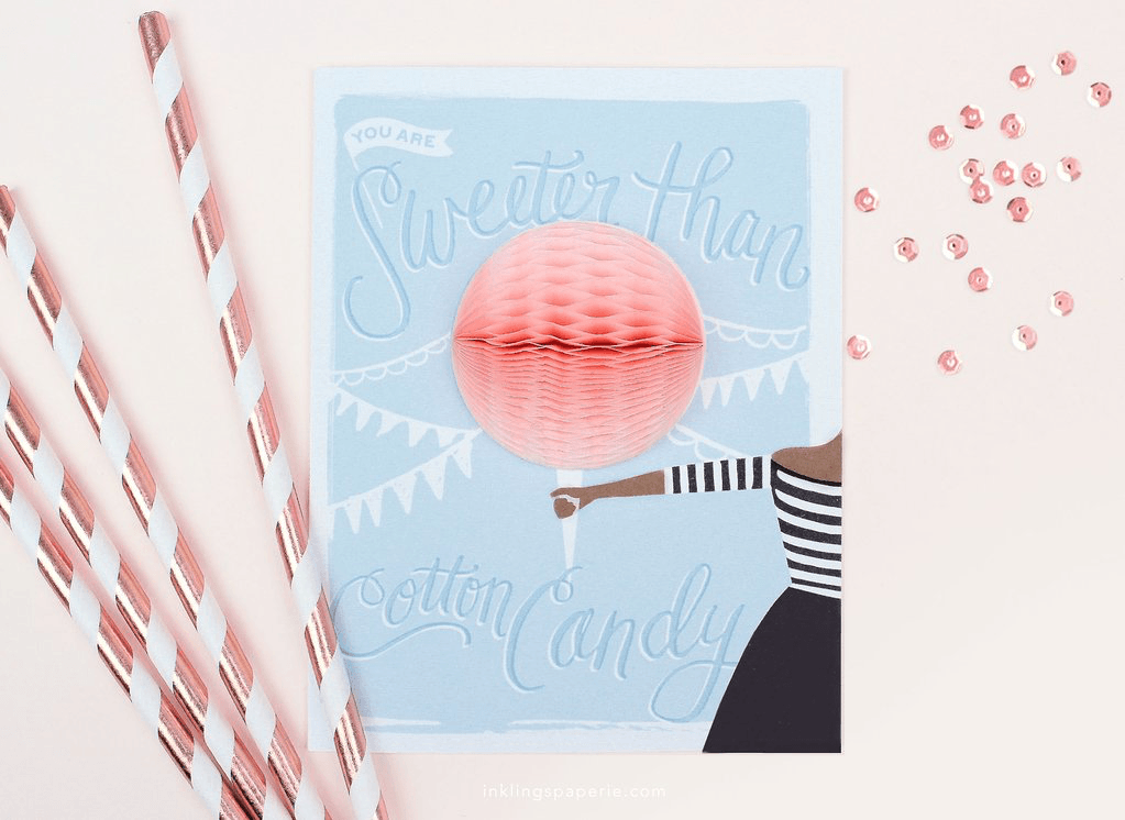 Cotton Candy Pop-up Card Card Johnathan Michael's Boutique