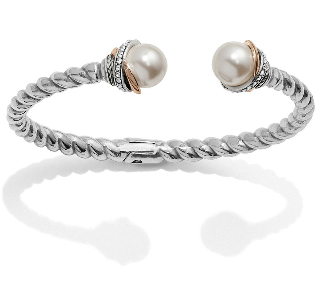 Neptune's Rings Pearl Open Hinged Bangle JF665D