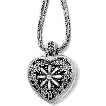 Floral Heart Locket Necklace J44722 Necklaces Brighton