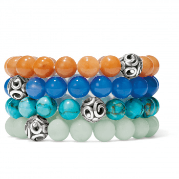 Contempto Chroma Blue Agate Stretch Bracelet JF834D