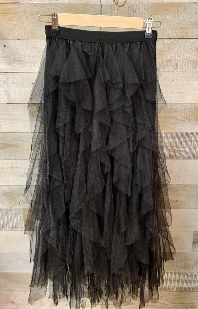 Black Ruffle Tulle Skirt - Johnathan Michael's Boutique