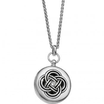 Interlok Small Round Locket Necklace JL9241 Lockets Brighton