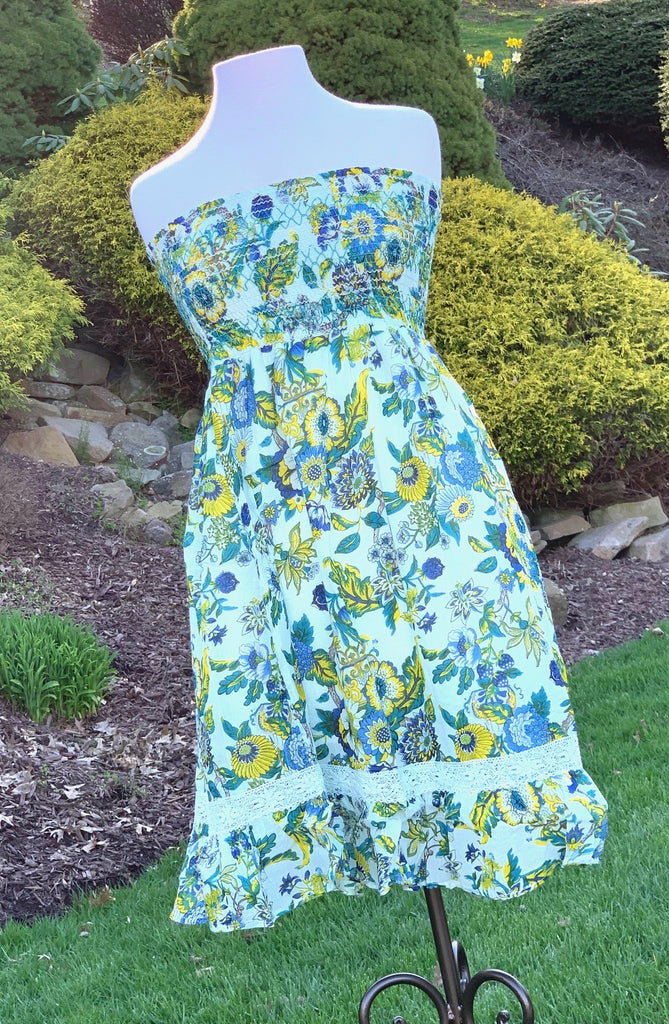 Floral Print Tube Top Dress - Johnathan Michael's Boutique