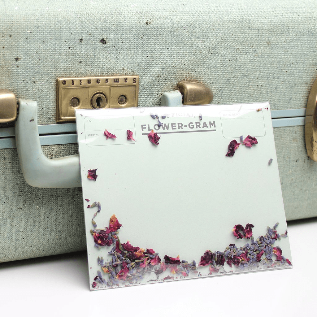 Flowergram - Lavender & Rose Card Card Johnathan Michael's Boutique
