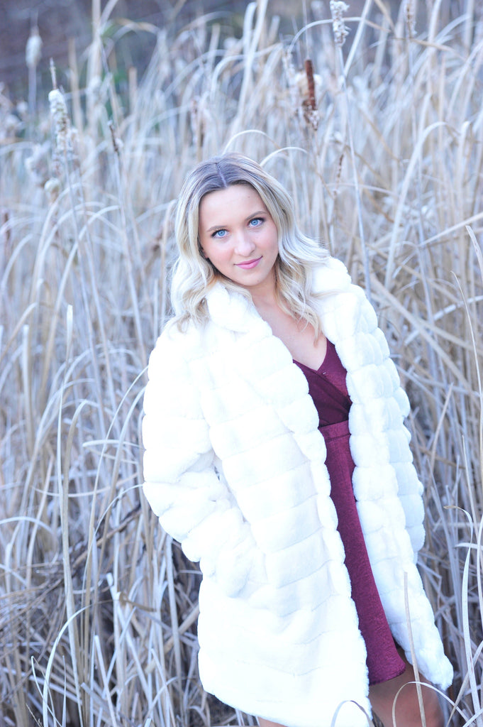 Ivory Fluffy Faux Fur Coat