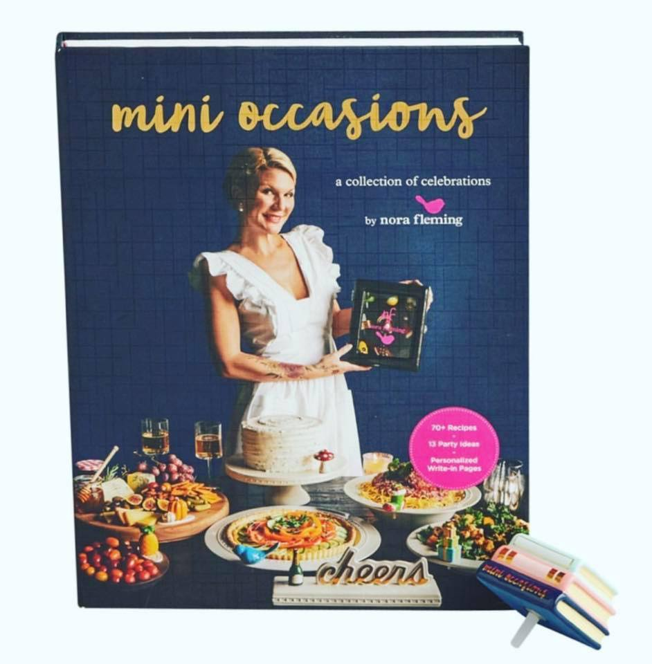 Nora Fleming Mini Occasions Cookbook With Mini Book