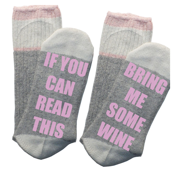 Custom Thermal Socks - Premium Pink - If you can read this....