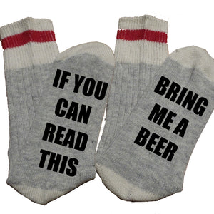 Custom Thermal Socks - If you can read this....