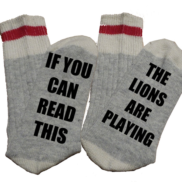 Custom Thermal Socks - NFL THEME - If you can read this, The _____ are playing