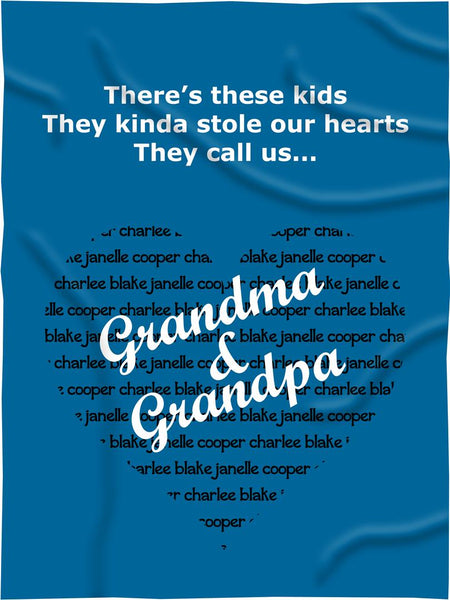 Customized Parents/Grandparents Fleece Blanket Style #3