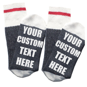Custom Thermal Socks - Premium Dark Grey - CREATE YOUR OWN