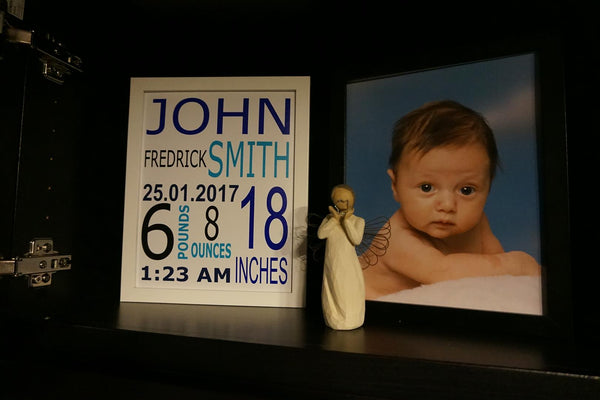 Custom Baby Announcement Plaque - Digital Delivery