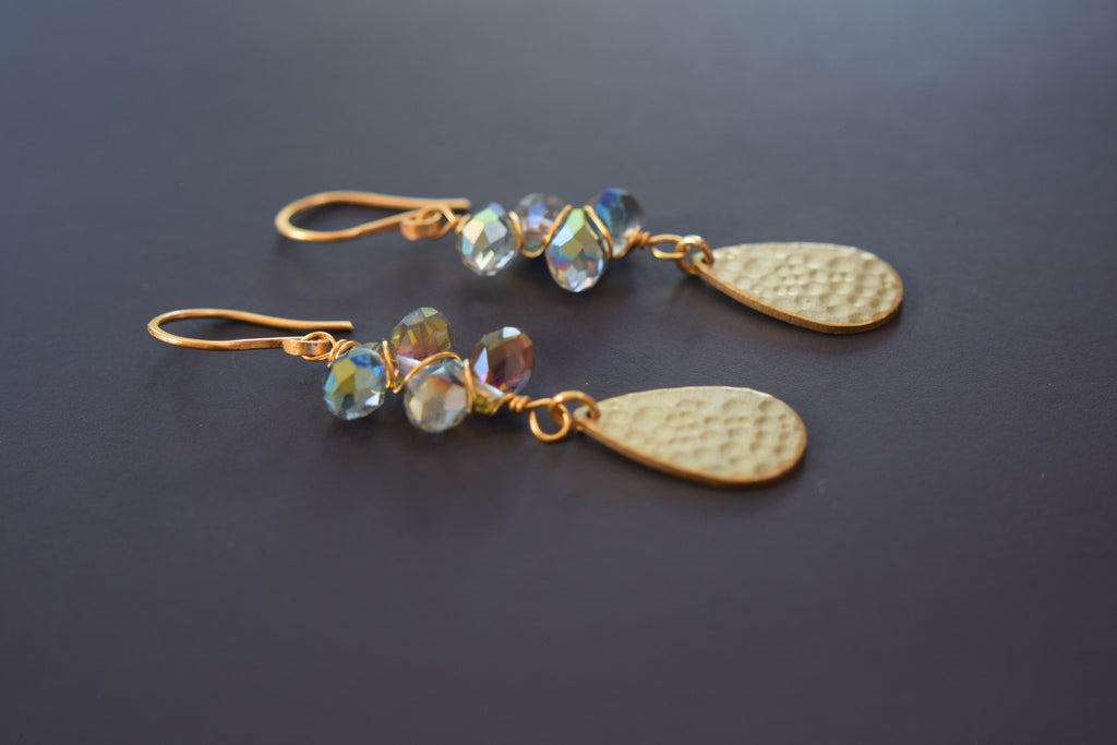 Iridescent Crystal Earrings