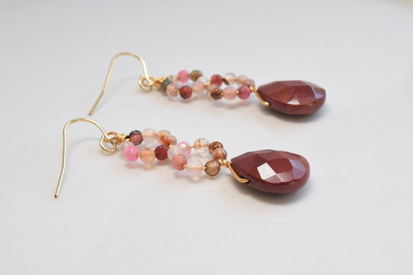 Red Jasper Gemstone Earrings